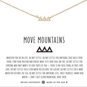 """Bryan Anthony """"Move Mountains"""" Necklace NWT!"""